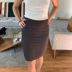 Dark grey pencil skirt